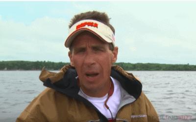 Walleye Spinner Trolling Over Weeds