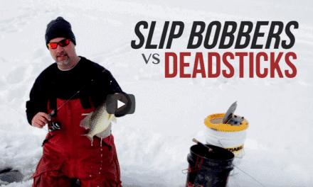Slip Bobbers vs. Deadsticks for Ice Crappies