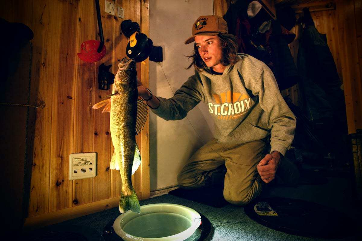 Ice Fishing Walleyes:  Catching More  without Moving