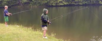 kids shore fishing