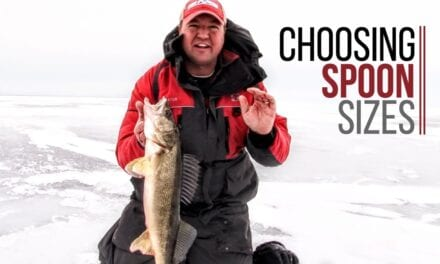 Choosing Spoon Sizes for Ice Fishing Walleyes