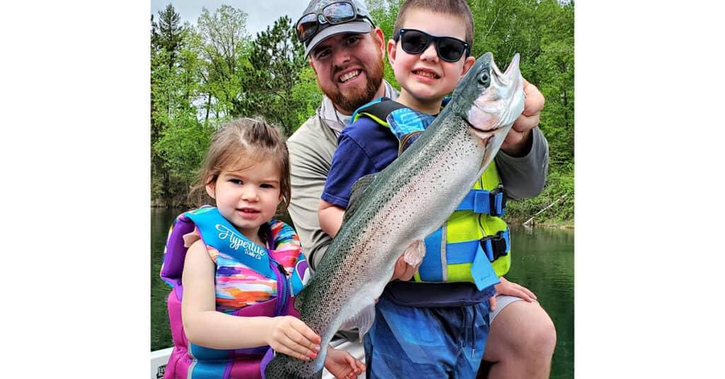 Brainerd Lakes Area rainbow trout